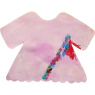 Use watercolor and crayon to create the dream cloth