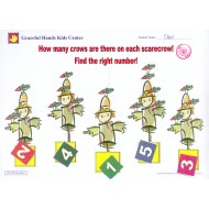 Find the right number of crows on each scarecrow