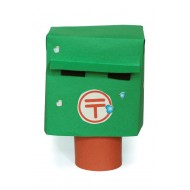 Use colour papers and stickers to making a mailbox